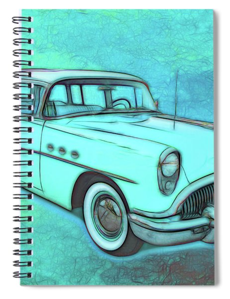 1954 Buick Wagon Spiral Notebook