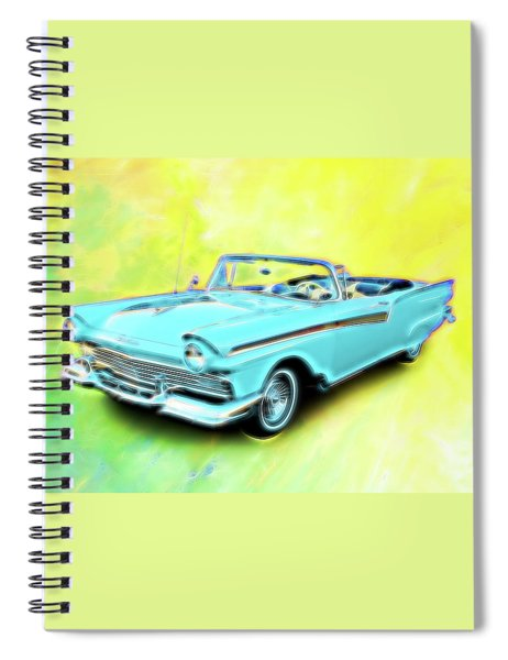 1957 Ford Fairlane Convertable Spiral Notebook