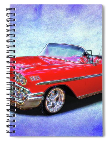 1958 Red Chevy Convertable Spiral Notebook