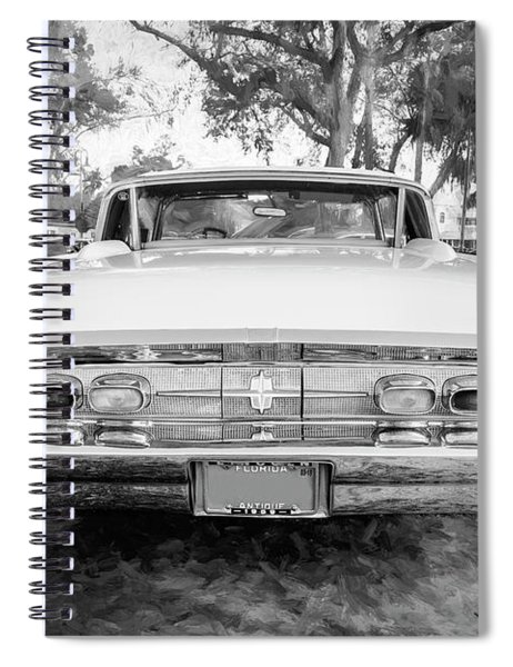 1959 Lincoln Continental Town Car Mk Iv Bw 133 Spiral Notebook