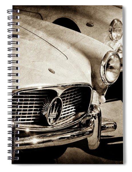 1960 Maserati Grille Emblem-1098scl3 Spiral Notebook