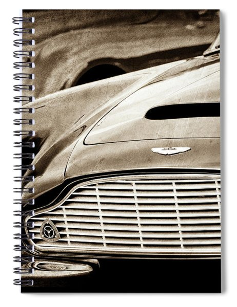 1965 Aston Martin Db6 Short Chassis Volante Grille-0970scl Spiral Notebook by Jill Reger