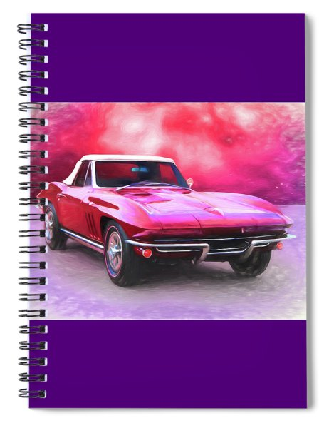 1965 Red Vette Spiral Notebook