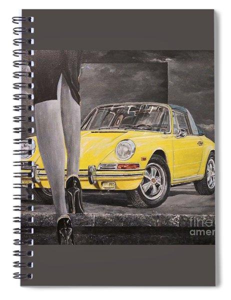1968 Porsche 911 Targa Spiral Notebook