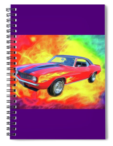 1969 Flaming Z Spiral Notebook