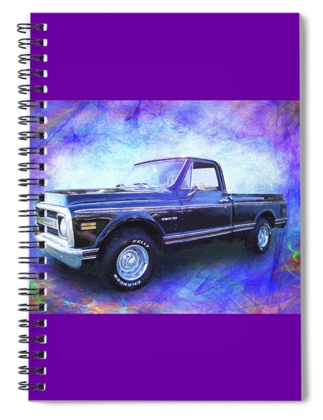 1970 Chevy C10 Pickup Truck Spiral Notebook