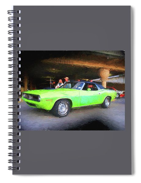 1970 Green Cuda Spiral Notebook
