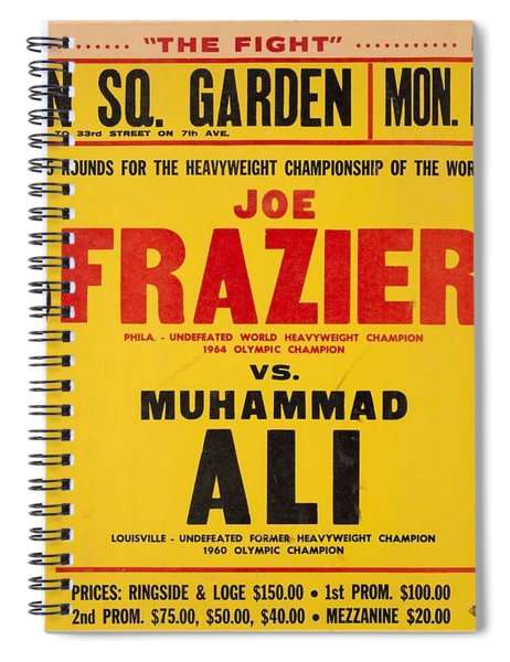 1971 Muhammad Ali Vs Joe Frazier I On Site Fight Poster Spiral Notebook