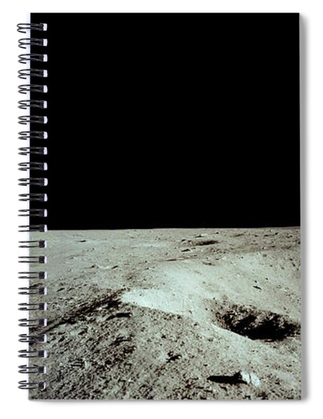 Apollo 11 Panorama Of The First Men Spiral Notebook