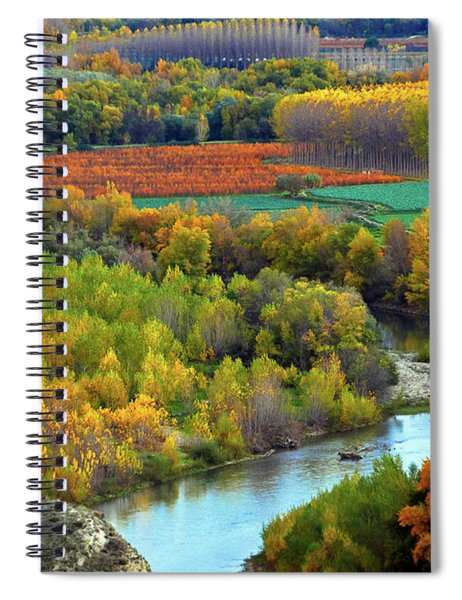 Autumn Colors On The Ebro River Spiral Notebook