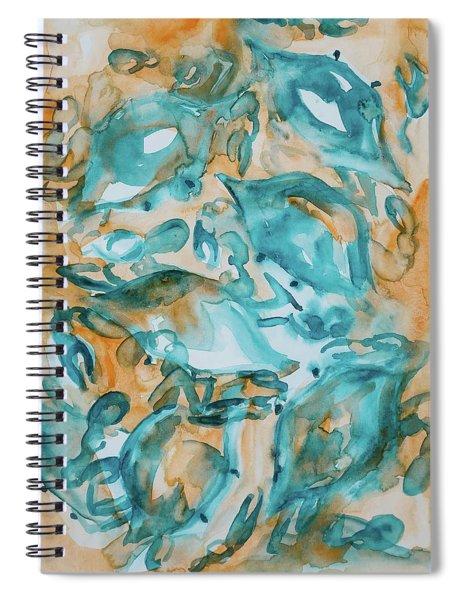 Blue Crabs Together Spiral Notebook