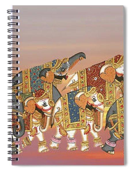 Caparisoned Elephants   Spiral Notebook