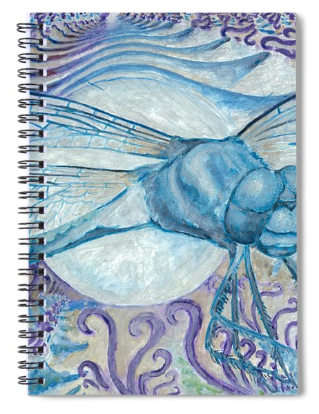 Dragonfly Moon Spiral Notebook