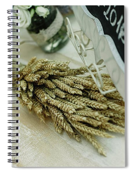 Floral Decorations In The Spaces Of A Wedding Restaurant. Spiral Notebook