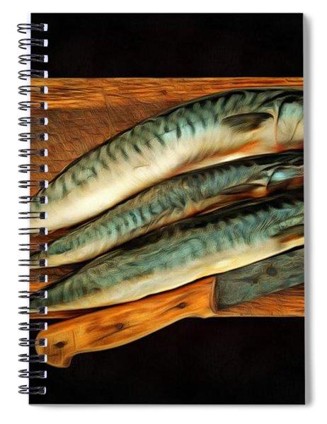 Fresh Mackerels Spiral Notebook