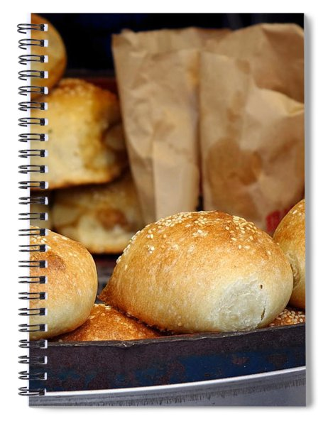 Freshly Baked Buns With Stuffing Spiral Notebook