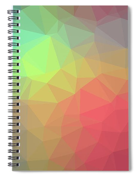 Gradient Background With Mosaic Shape Of Triangular And Square C Spiral Notebook