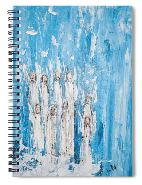 Heavenly Host Of Angels  Spiral Notebook