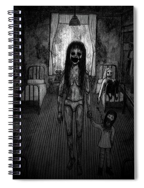 Jessica And Her Broken Doll - Artwork Spiral Notebook