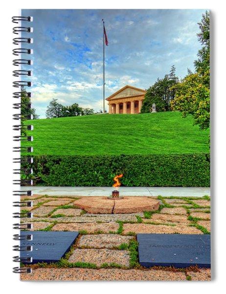 Jfk Grave And Arlington House Spiral Notebook