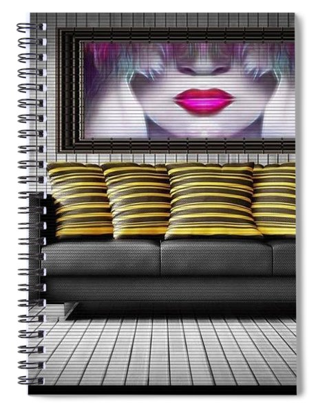 Lady Fashion Beauty Spiral Notebook