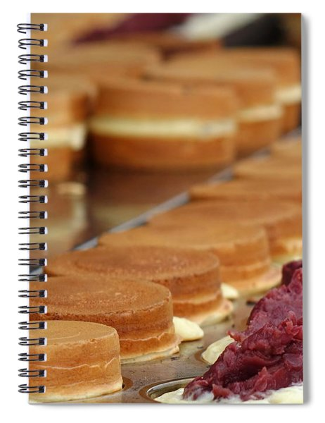 Making Red Bean Cakes Spiral Notebook