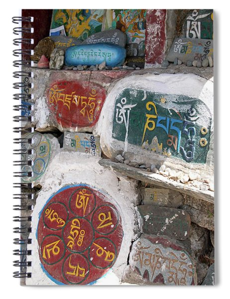 Mani Stones On The Kora Mcleod Ganj Spiral Notebook