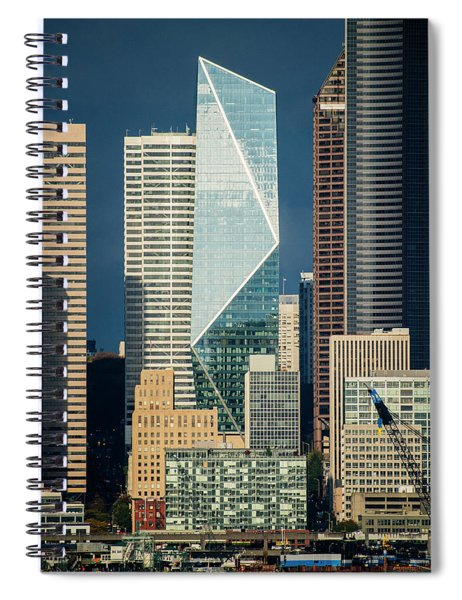 Modern Architecture In City, Seattle Spiral Notebook