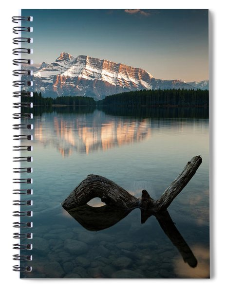 Mount Rundle And Two Jack Lake Spiral Notebook