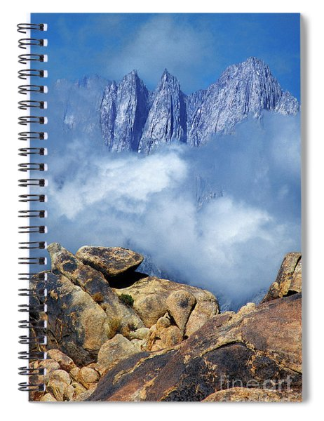 Mount Whitney In Clouds Alabama Hills California Spiral Notebook