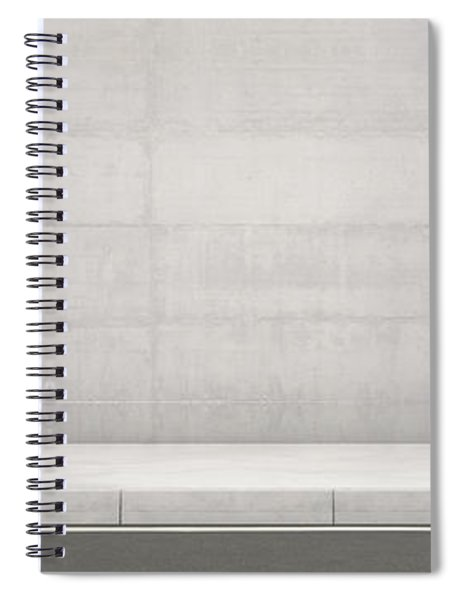 Pavement Street And Wall Backdrop Spiral Notebook