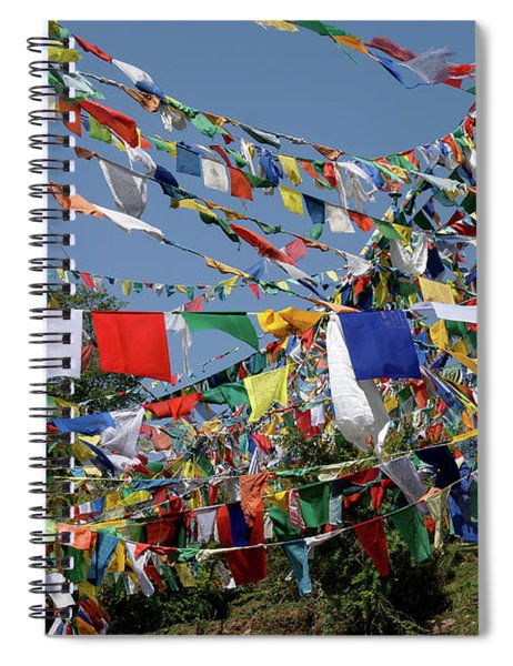 Prayer Flags On The Kora In Mcleod Ganj Spiral Notebook