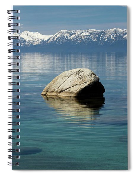 Rocks In A Lake With Mountain Range Spiral Notebook