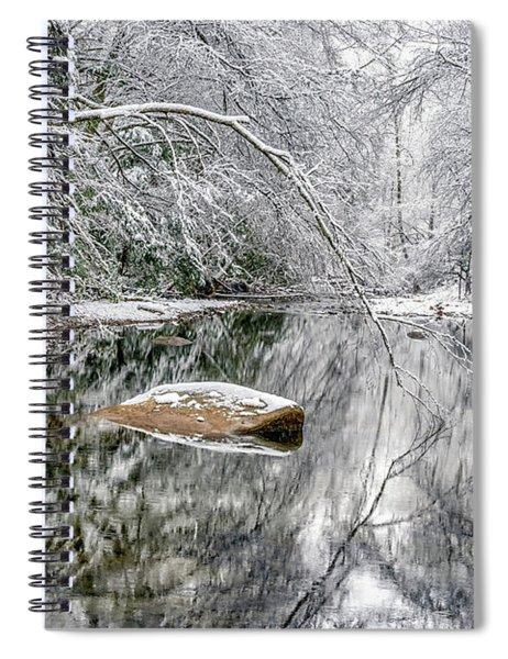 Snow Along Cranberry River Spiral Notebook