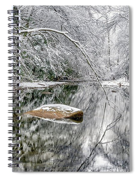 Snow Along Cranberry River Spiral Notebook