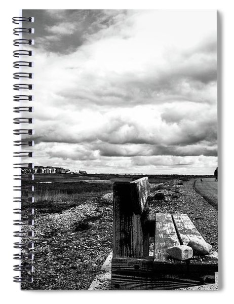 2 Stones On Bench Spiral Notebook