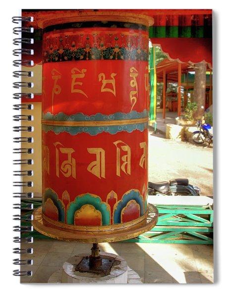 Temple Detail Along The Kora In Mcleod Ganj Spiral Notebook