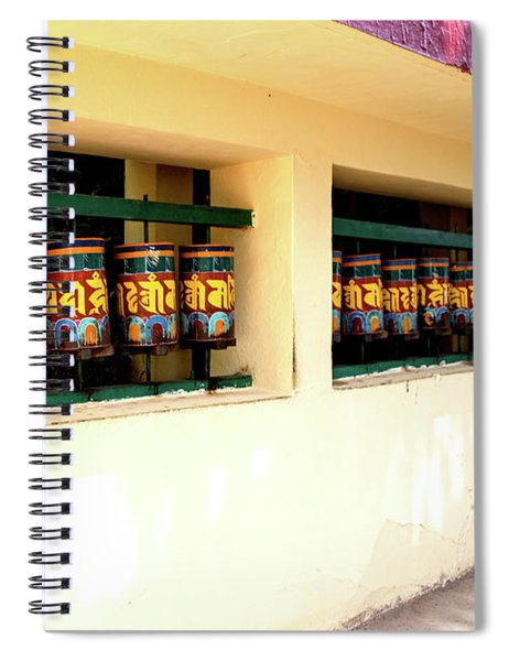 Temple On The Kora At Mcleod Ganj Spiral Notebook