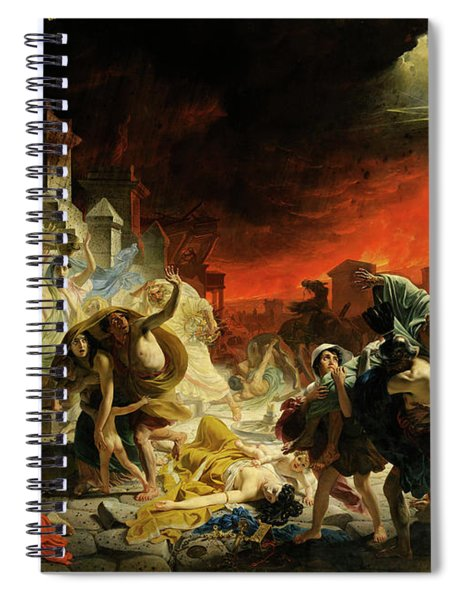 The Last Day Of Pompeii Spiral Notebook