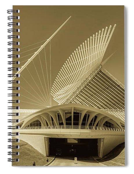 The Milwaukee Art Museum's Quadracci Pavilion Spiral Notebook