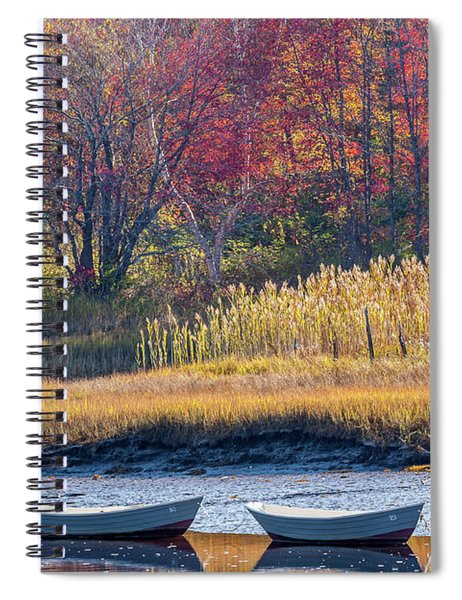 Two Boats In Autumn Spiral Notebook