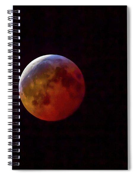 2019 Super Blood Wolf Moon Spiral Notebook