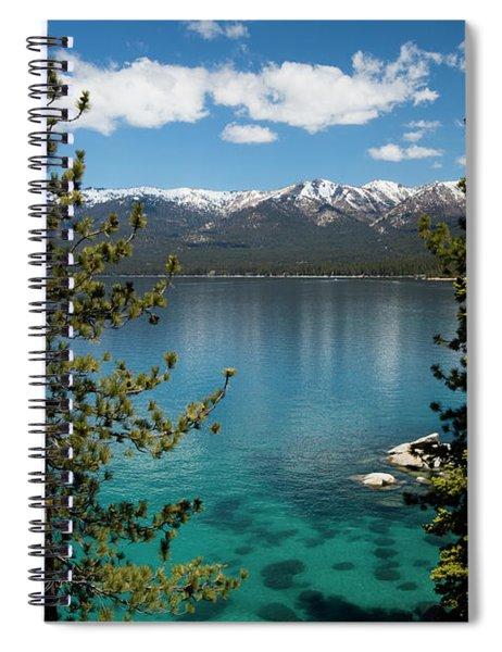 Lake With Mountain Range Spiral Notebook