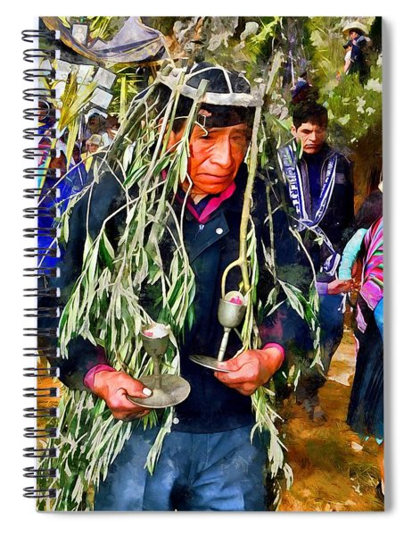 Palm Sunday In Cajamarca. Spiral Notebook