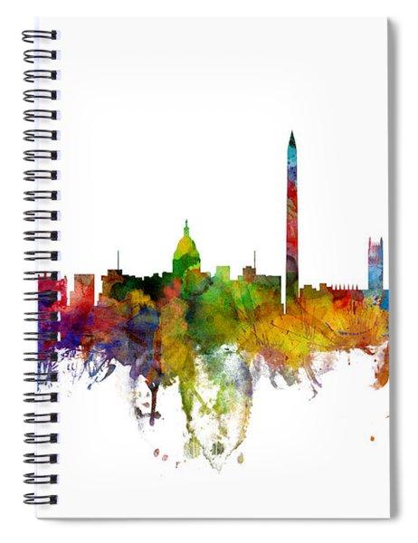Washington Dc Skyline Spiral Notebook