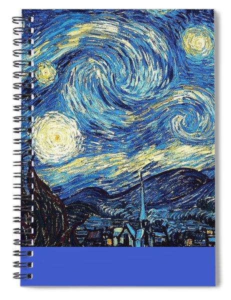 Starry Night By Van Gogh Spiral Notebook