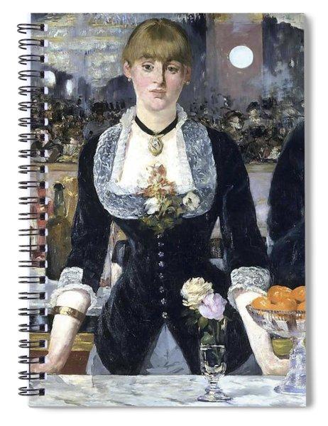 A Bar At The Folies Bergere Spiral Notebook