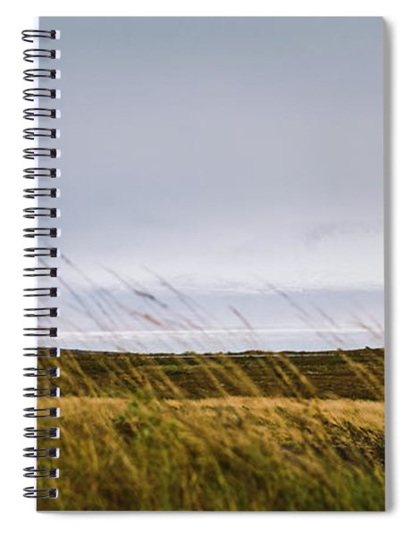 Beautiful Panoramic Photos Of Icelandic Landscapes That Transmit Beauty And Tranquility. Spiral Notebook