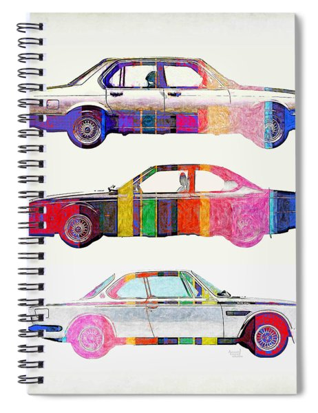 3 Bmw Bigs Pop Colors Spiral Notebook