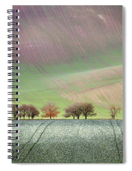 Autumn In South Moravia 3 Spiral Notebook